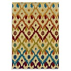 Linon Home Trio Collection Ikat Rug in Ivory