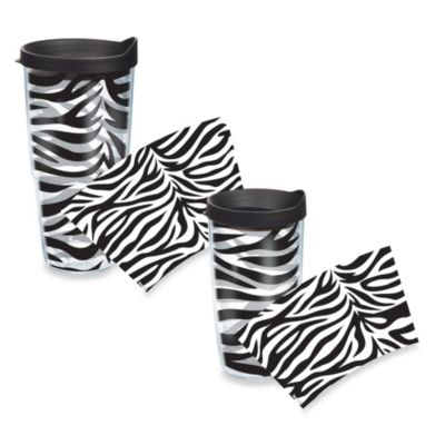 Tervis® Zebra Stripe Wrap 24-Ounce Tumbler with Black Lid