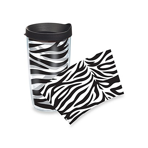 Tervis® Zebra Stripe Wrap 16-Ounce Tumbler with Black Lid