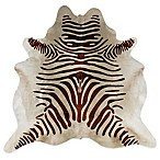 Linon Home Natural Cowhide 5-Foot x 8-Foot Rug in Brown Zebra