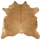 Linon Home Natural Cowhide 5-Foot x 8-Foot Indoor Rug in Beige