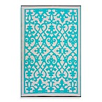 Fab Rugs Venice Indoor/Outdoor Rug in Turquoise