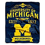 University of Michigan Raschel Throw