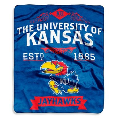 University of Kansas Raschel Throw