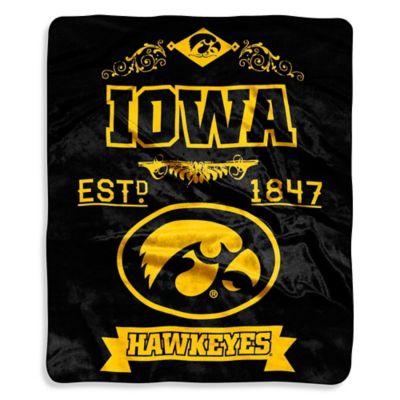 University of Iowa Raschel Throw
