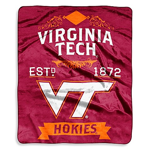 Virginia Tech Raschel Throw