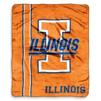University of Illinois Raschel Throw