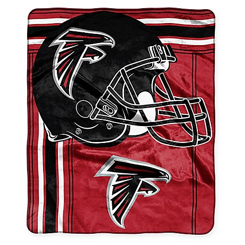 NFL Atlanta Falcons Royal Plush Raschel Throw