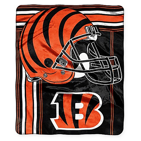 NFL Cincinnati Bengals Royal Plush Raschel Throw