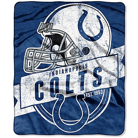 NFL Indianapolis Colts Raschel Throw