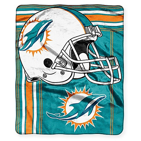 NFL Miami Dolphins Raschel Throw