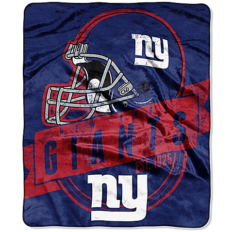 NFL New York Giants Raschel Throw