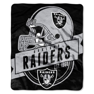NFL Oakland Raiders Royal Plush Raschel Throw