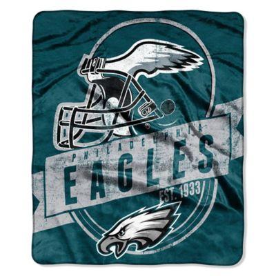 NFL Philadelphia Eagles Royal Plush Raschel Throw