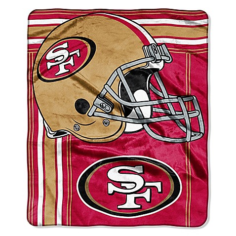 NFL San Francisco 49ers Raschel Throw