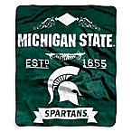 Michigan State Raschel Throw
