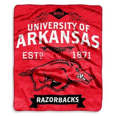 University of Arkansas Raschel Throw