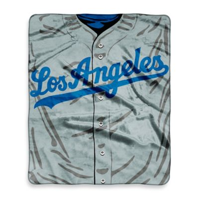 MLB Los Angeles Dodgers Retro Raschel Throw Blanket