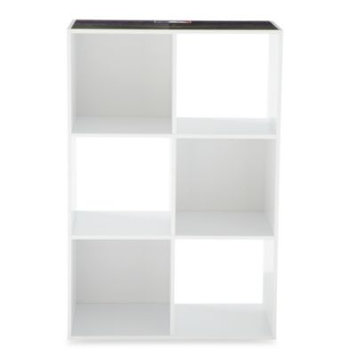MLB 6-Cube Organizer in White