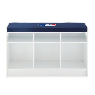 MLB 3-Cube Bench Organizer in White