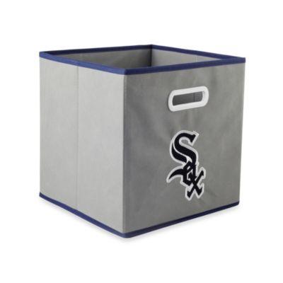MLB Chicago White Fox Fabric Storage Drawer in Grey
