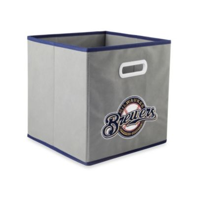 MLB Milwaukee Brewers Fabric Storage Drawer