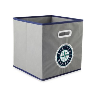 MLB Seattle Mariners Fabric Storage Drawer in Grey