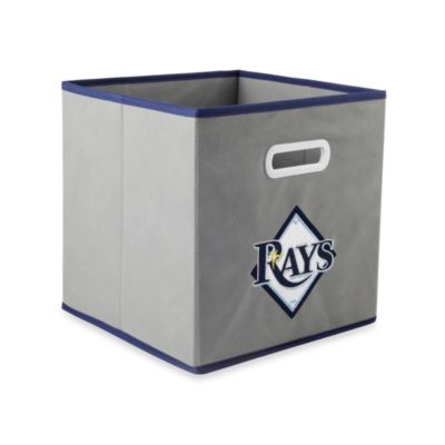 MLB Tampa Bay Rays Fabric Storage Drawer in Grey