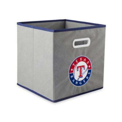 MLB Texas Rangers Fabric Storage Drawer in Grey