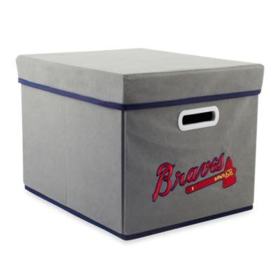 MLB Atlanta Braves Fabric Storage Drawer in Grey