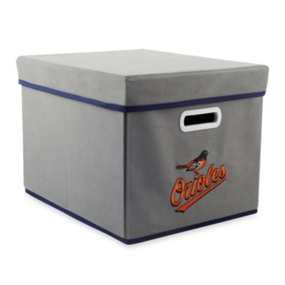 MLB Baltimore Orioles Fabric Storage Drawer in Grey