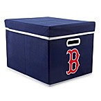 MLB Boston Red Sox Fabric Storage Cube with Cover