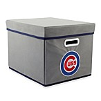 MLB Chicago Cubs Royals Fabric Storage Cube with Cover