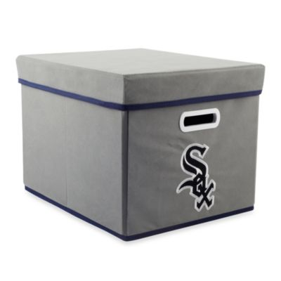 MLB Chicago White Sox Fabric Storage Cube with Cover