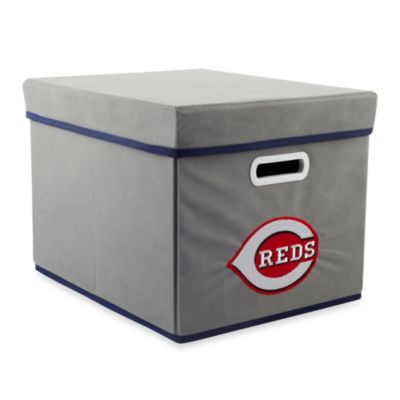 MLB Cincinnati Reds Fabric Storage Cube with Cover