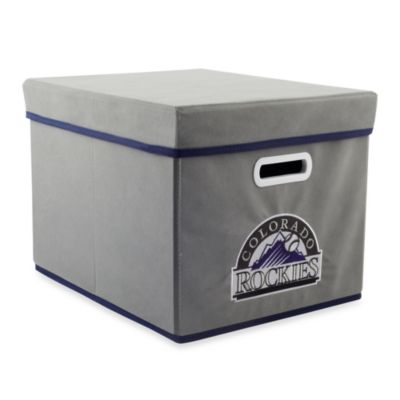 MLB Colorado Rockies Fabric Storage Cube with Cover