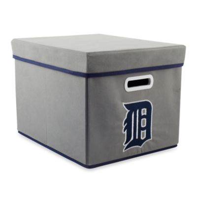 MLB Detroit Tigers Fabric Storage Cube with Cover