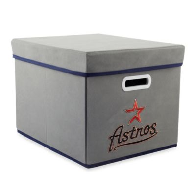 MLB Houston Astros Fabric Storage Cube with Cover