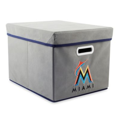 MLB Miami Marlins Fabric Storage Cube with Cover