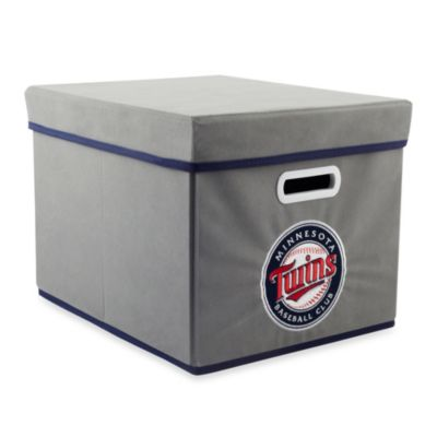 MLB Minnesota Twins Fabric Storage Cube with Cover