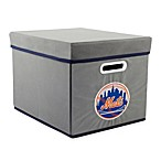 MLB New York Mets Fabric Storage Cube with Cover