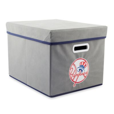 MLB New York Yankees Fabric Storage Cube with Cover