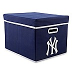MLB New York Yankees Fabric Storage Cube with Cover in Blue
