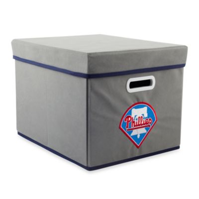 MLB Philadelphia Phillies Fabric Storage Cube with Cover