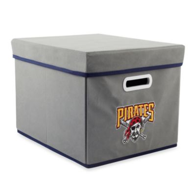 MLB Pittsburgh Pirates Fabric Storage Cube with Cover