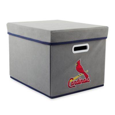 MLB St. Louis Cardinals Fabric Storage Cube with Cover