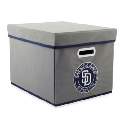 MLB San Diego Padres Fabric Storage Cube with Cover