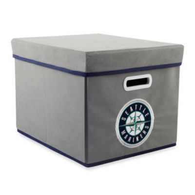 MLB Seattle Mariners Fabric Storage Cube with Cover