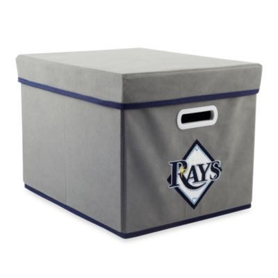 MLB Tampa Bay Rays Fabric Storage Cube with Cover