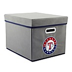 MLB Texas Rangers Fabric Storage Cube with Cover